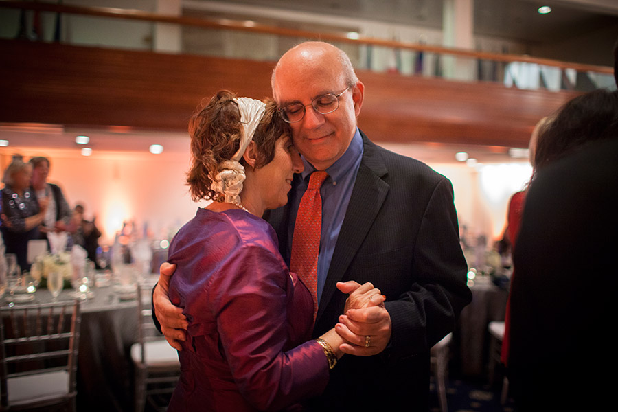 She and her husband Ed, share a dance at a family wedding.