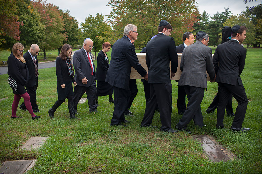 In accordance with Jewish tradition, the funeral is held within days of Debbie's passing.