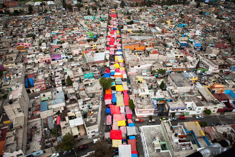 the view, from a helicopter circling over mexico city on election day, July 1, 2012